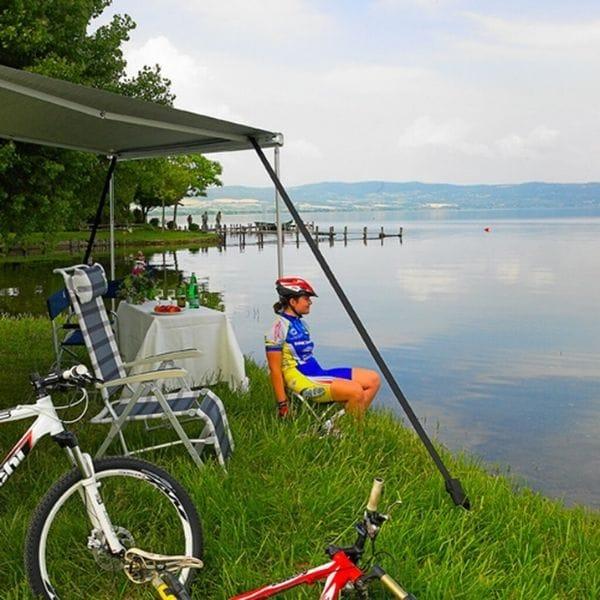 Sturmabspannung mit Campingprodukte Schweiz